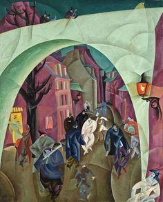 Lyonel Feininger, The Green Bridge II, 1916
