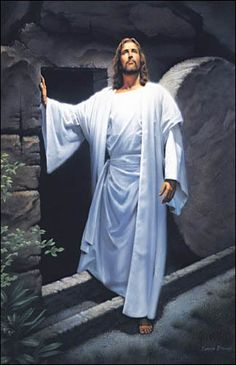 He has RISEN! - I just think this is a great painting - the Lord Jesus is looking up to His Father, & I think it is in joy & thanksgiving for what had been accomplished. - Christian Holiday