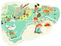 Naples map illustration