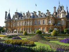 The terrace and parterre garden at Waddesdon Manor, Buckinghamshire, England/////in my dreams Palace Tour, English Manor Houses, England And Scotland, England Uk, Am Meer, Illuminati, British Museum, Hogwarts, Beautiful Places