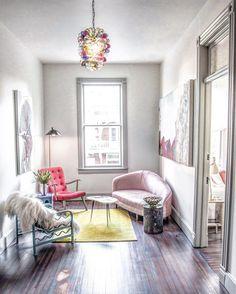 """slow mornings upstate [ love the cool & colorful interiors at Hotel Tivoli ] #gatheringslikethese"""