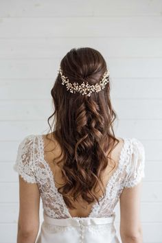 Aster Statement Wedding Hair Vine - Victoria Millesime