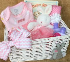 Fun easter basket themes time for the holidays time for the precious baby bunny first easter gift basket negle Gallery