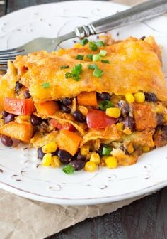 crockpot black bean and sweet potato enchiladas (excited to try this method, but I'm going to do my usual green sauce recipe)