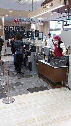 スキャンは店員、会計機での支払いは顧客が