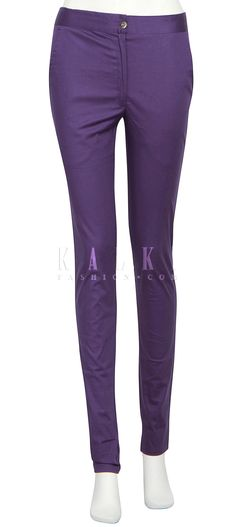 Buy Online from the link below. We ship worldwide (Free Shipping over US$100) http://www.kalkifashion.com/featuring-cigarette-pants-in-purple-only-on-kalki.html
