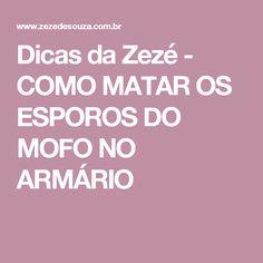 Dicas da Zezé  - COMO MATAR OS ESPOROS DO MOFO NO ARMÁRIO