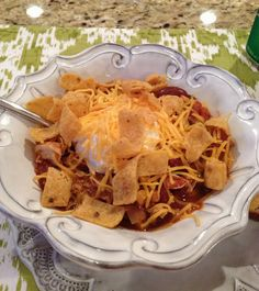 Crockpot Chicken Taco Chili- My family RAVED about this stuff! It was totally delicious and super easy to fix. My kind of recipe!