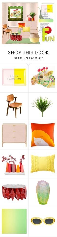 """jan's room"" by meadowbat ❤ liked on Polyvore featuring interior, interiors, interior design, home, home decor, interior decorating, Fringe, Artek, 37 West and Nordstrom Rack"