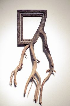 Fusion Frames NW, making distinct Fusion Frame tree branch art since A reclaimed tree branch, a re-purposed frame, and my passion — Darryl Cox, Jr. Tree Branch Decor, Tree Branches, Organic Sculpture, Sculpture Art, Driftwood Frame, Driftwood Furniture, Framed Art, Wall Art, Horse Head