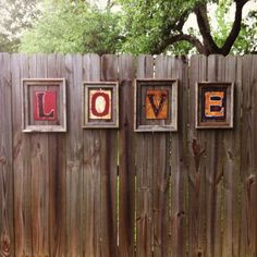 LOVE my new fence decor