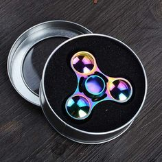 New Rainbow Tri Hand Fidget Spinner Alloy Desk Toy EDC Finger Gyro Kids/Adults #UnbrandedGeneric