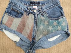 diy usa shorts >>> remembering this for the Fourth of July