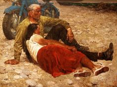 Гелий Коржев. «Влюбленные». 1959 г.