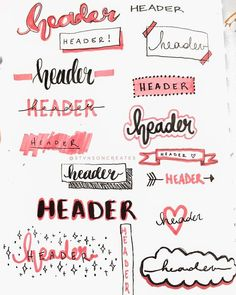 Adding headers or titles to your bullet journal adds a nice touch to your spread. - Adding headers or titles to your bullet journal adds a nice touch to your spread. Headers let you k - Bullet Journal Kpop, Bullet Journal Headers, Bullet Journal Lettering Ideas, Bullet Journal Banner, Journal Fonts, Bullet Journal How To Start A, Bullet Journal Aesthetic, Bullet Journal Writing, Bullet Journal Spread