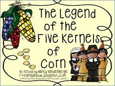 First Grade Wow: The Legend of the Five Kernels of Corn Thanksgiving Preschool, Fall Preschool, Thanksgiving Ideas, Preschool Rules, Thanksgiving History, Thanksgiving Worksheets, Preschool Ideas, Thanksgiving Decorations, Preschool Crafts