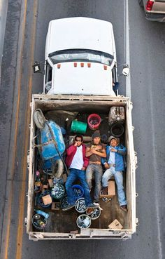 Mexican Car Poolers by Alejandro Cartagena