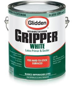 Just used this on a laminated bookshelf and 3 stools that were already painted. BEST PRIMER EVER!! Glidden® Gripper Primer