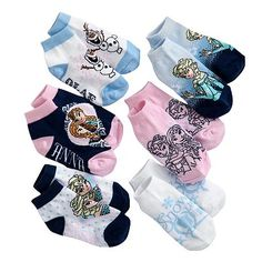 Disney Frozen Anna, Elsa & Olaf 6-pk. Low-Cut Socks - Toddler