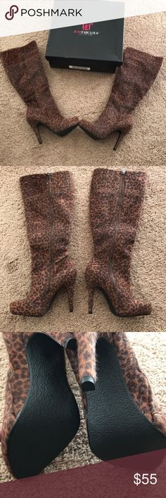 Boots Zippered Just Fabulous Shoes Heeled Boots