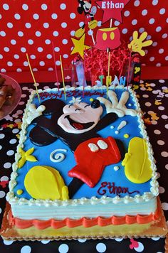 Ethan's Mickey Mouse First Birthday Party