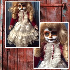 Porcelain Day of the Dead Doll by grandmaswitchesbroom on Etsy