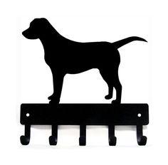 Labrador (Sm) Key Rack Hanger/ Leash hooks - Metal - 6 inches wide