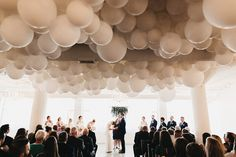 Balloon Decoration for Wedding Reception . 30 Fresh Balloon Decoration for Wedding Reception . A Gorgeous Balloon Installation by Luft Balloon at Room 1520 Silver Wedding Decorations, Wedding Balloon Decorations, Reception Decorations, Balloon Ceiling Decorations, Balloons On Ceiling, Wedding Ballons, Balloon Clouds, Wedding Ideas Board, Wedding Inspiration