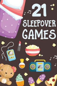 21 Sleepover Games for Kids: Have the Best Pajama Party Ever! 21 Sleepover Games for Kids: Have the Best Pajama Party Ever!Inside: 21 funtastic Sleepover Games for KidsSleepovers. Kids love them…parents Slumber Party Activities, Sleepover Party Games, Kids Party Games, Sleepover Crafts, Games For Parties, Teenage Party Games, Spa Games, Beach Party Games, Spa Party