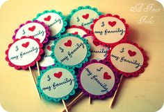 i heart my family cupcake toppers Cupcake Toppers, My Family, My Heart, How To Make, Printable, Link, Events, Families