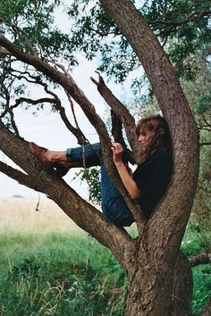 I literally used to do this. I had my tree and I would sit in it and write letters to famous people who were dead.