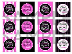 Its Time to Drink Champagne & Dance on the Table Printable Cupcake Toppers / Party Tags on the by TheSubtleStatement, $6.00