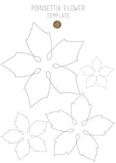 Poinsettia flower template III copy | by CartaForbiciGatto