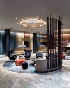 Elegant interior design for this reception area