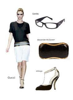 Accessory overload, but black is eternal. Dressed up or down, black interspersed ornaments show your elegance and mystery. #eyewear #eyeglasses #womensfashion