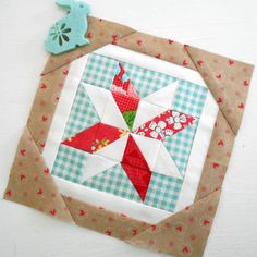 The Splendid Sampler block no. 13 - Scrap Stars.  Nice patchwork block.