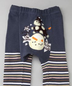 Look at this #zulilyfind! Blue Stripe Cow Pants - Infant by Giggle Buns #zulilyfinds