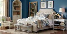 Great idea for nook in master bedroom. Bedroom Photos, Design Ideas, Pictures & Inspiration | Birch Lane