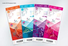 The ticket design for the London 2012 Olympics has been unveiled, the multi-coloured slips a timely taster of the rapidly approaching Games. With the Olympic Flame making its way towards the stadium a. Make Your Own Logo, Event Branding, Retail Branding, Branding Ideas, Ticket Design, Sports Graphic Design, Creative Review, Social Media Design, Art Logo