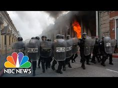 Hundreds of protesters in Guatemala broke off from a larger rally and set fire to the country's Congress building. Rioting and clashes with the police ensued…