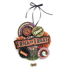 Halloween door hanger: I made this using some of the leftovers from my Halloween Wreath. I thought it would be funny to hang on the bathroom door or the kitchen... because you never know what you're going to get when you enter either of those rooms at our house! Depends on who's been there before you ;)... gasp! What were you thinking? I was talking about the dirty dishes and the... towels on the floor ;-) Enjoy!