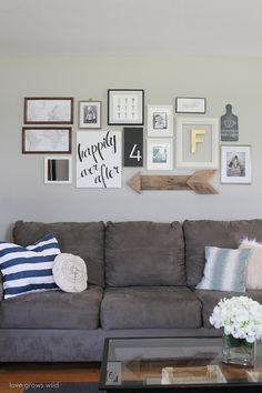 1000 ideas about wall behind couch on pinterest behind for S carey living room tour