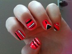 I decided to get crazy with the nails for summer!:)