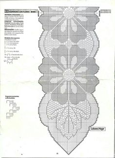 """Kira scheme crochet: Scheme crochet no."", ""Anna Crochet Hungari added a new photo — with Rose Marie Navacchia and Milanka Stevan Filet Crochet, Crochet Diagram, Crochet Chart, Thread Crochet, Crochet Stitches, Crochet Table Runner Pattern, Crochet Doily Patterns, Crochet Borders, Crochet Tablecloth"