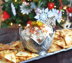 Sweet and Savory Dip Recipe: Bacon Jalapeno Onion Dip—a creamy, spicy dip with caramelized onions, crisp bacon bits that is so addicting and perfect for any holiday party or gathering. Serve with Town House Pita Chips. Recipe via @simplsweetsavry. Ways To Wow AD WAYS TO WOW SWEEPS