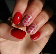 Red-nude nails.