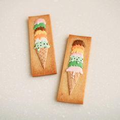 ° ° Ice cream icing cookies :-) ° 夢の!7段アイス  ° °