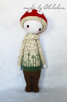 PAUL the toadstool made by Olilchen / crochet pattern by lalylala