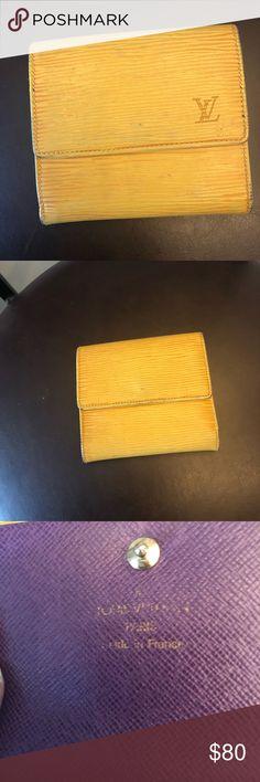 Louis Vuitton Yellow Epi Tri fold wallet Louis Vuitton Yellow Epi Tri fold wallet Louis Vuitton Bags Wallets