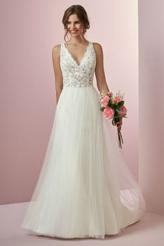 Maggie Sottero Wedding Dresses A Line A-line wedding gown with V-neckline from Rebecca Ingram. Maggie Sottero Wedding Dresses A Line A-line wedding gown with V-neckline from Rebecca Ingram. Maggie Sottero Wedding Dresses, Wedding Dress Sizes, Colored Wedding Dresses, Perfect Wedding Dress, Boho Wedding Dress, Designer Wedding Dresses, Bridal Dresses, Wedding Gowns, Lace Wedding